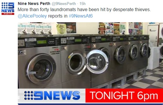 9News - Laundromat hit